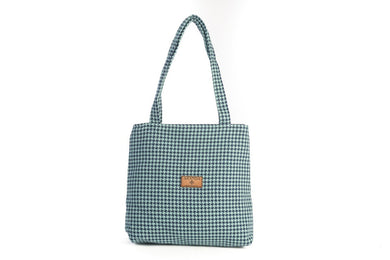 Houndstooth Seafoam Tote