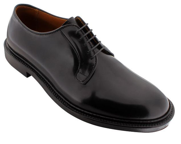 ALDEN 9901 PLAIN TOE BLUCHER BLACK SHELL CORDOVAN