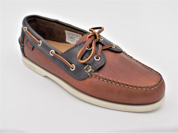 Bass Jetty Boat Shoe Mid Brown/Navy Leather