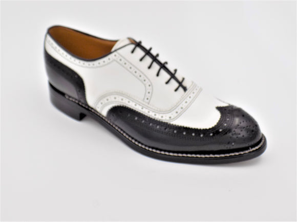 Johnston & Murphy 406 Daisy Two Tone Black & White