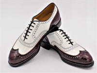 Johnston & Murphy 407 Daisy Two Tone Wine & White