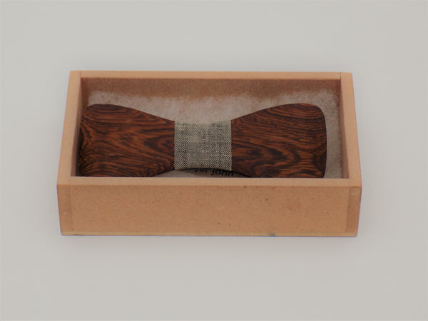 Wooden Bow Tie Grey