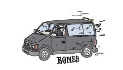 Bones Wheels Sticker Van