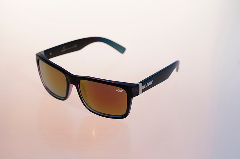 DOODE Black/Blue Lens on Black Sunglasses