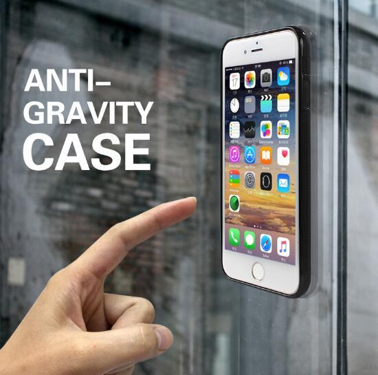 big sale a6c04 f6d80 Anti Gravity Phone Bag Case For iPhone X 8 7 6S Plus Antigravity TPU Frame  Magical Nano Suction Cover Adsorbed Car Case