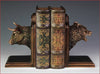 Bull & Bear Head Bookends