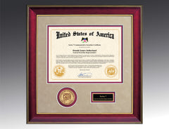 The Presidential Frame Mahogany