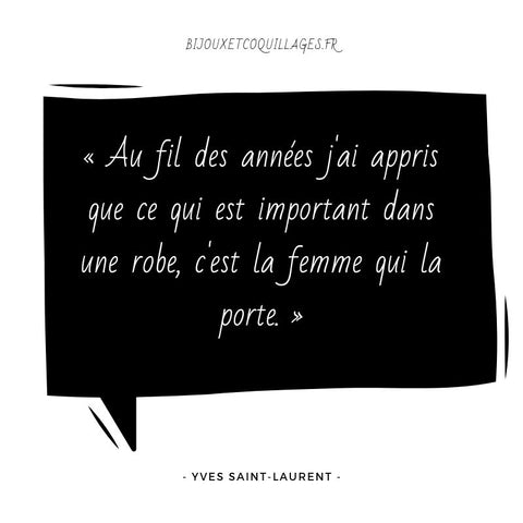 Citation mode Yves saint-laurent