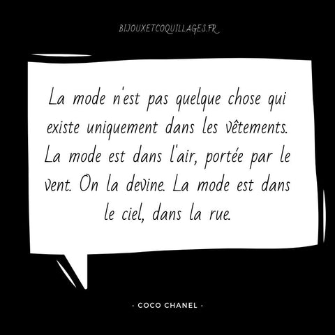 Citation Mode Coco Chanel