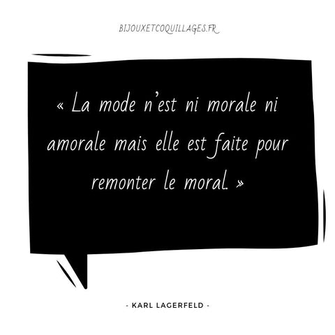 Citation Mode Karl Lagerfeld