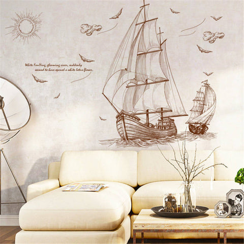 Sticker Mural Voilier