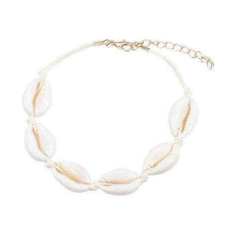 Bracelet Coquillage <br/> Cauri Naturel