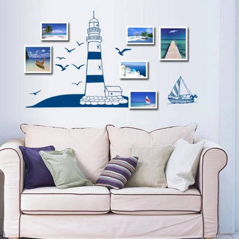 Sticker Phare Maritime | Bijoux et Coquillages