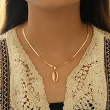 Collier Coquillage <br/> Cauri Or