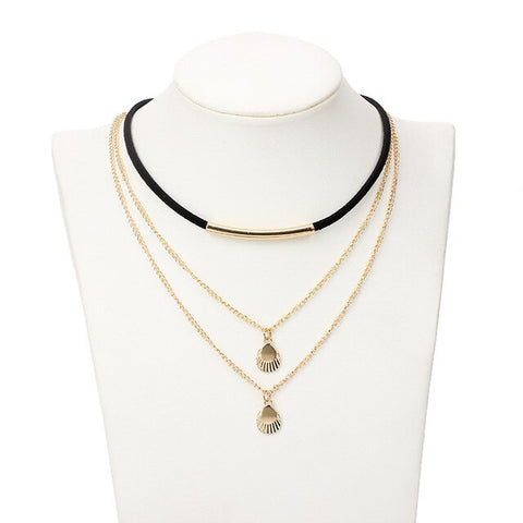 Collier Coquillage <br> Coquille Saint-Jacques - Bijoux et Coquillages