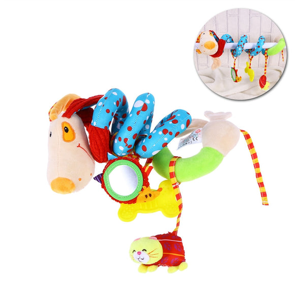 Puppy Dog Baby Infant Crib Toy Wrap Around Crib Rail Toy Stroller Toy Cute Baby Educational Plush Toys