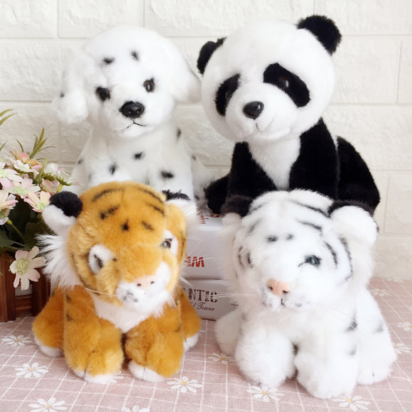 1pc 20cm Stuffed Animal Creative Plush Toy Panda Tiger And Dog Cute Plush Doll Kawaii Toy For Kid Christmas Gift Birthday Toy