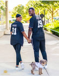 Team Us Custom Bride & Groom Baseball Jersey Full Button