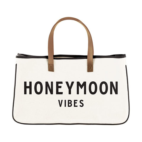 Honeymoon Vibes Canvas Tote