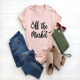 OKOUFEN Off the Market Future Mrs T Shirt New Arrival T-shirt 2019 Fiance Women Top Plus Size Wedding Bridal Hen Party Female