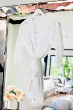 Personalized Lace Robe