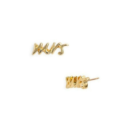 Say Yes Gold / Silver  MRS Stud Earrings for Women