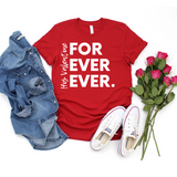 His For Ever Ever Tee Red