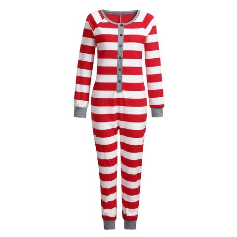 jumpsuits for wome Mom Family Xmas Striped Holiday Matching Pajamas Long Jumpsuits 2018 fashion bodysuit combinaison femme
