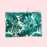 Palm Leaf Cosmetic Bag
