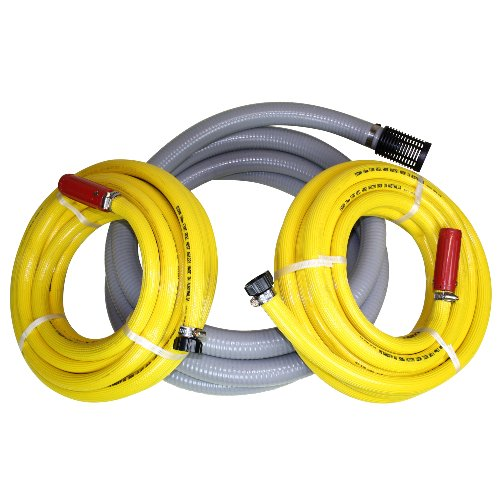 Pump Engine Fire Fighting Hose Kit 1 x 38mm Suction Hose and 2 x 20mm Discharge Hose