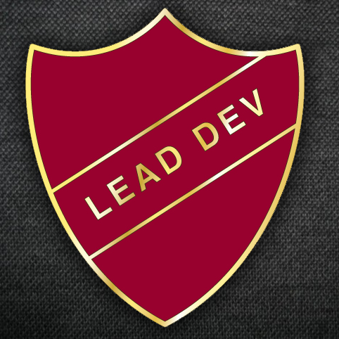 "A rendering of the ""Lead Dev"" badge."