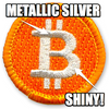 """Bought This Bitcoins Badge With Bitcoins"" Badge"