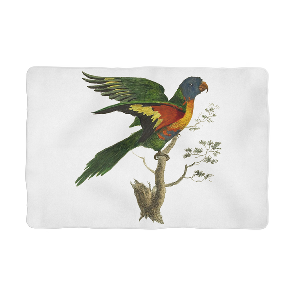 Blue-Bellied Parrot Sublimation Pet Blanket