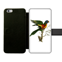 Blue-Bellied Parrot Front Printed Wallet Cases