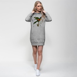 Blue-Bellied Parrot Premium Adult Hoodie Dress