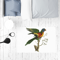 Blue-Bellied Parrot Sublimation Mat / Carpet / Rug / Play Mat / Pet Feeding Mat