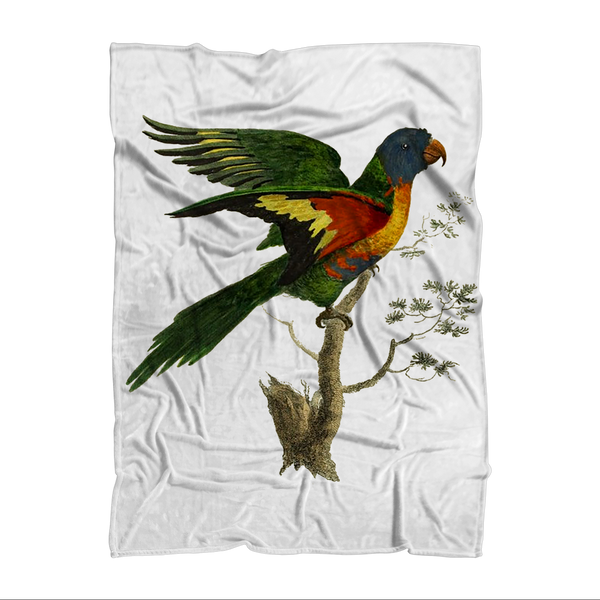 Blue-Bellied Parrot Premium Sublimation Adult Blanket