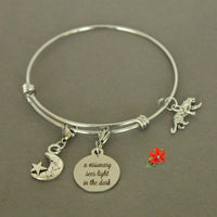 You! are a Visionary. You See Solutions Through the Darkness of Your Doubts! Charm Bangle Bracelet