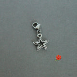Beaded Star Charm with Lobster Clasp and 1 Bangle