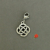 Silver-Plated Pewter Celtic Knot Charm and 1 Bangle