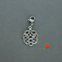 Embossed Celtic Knot Charm with Lobster Clasp and 1 Bangle