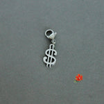 US Dollar Symbol Charm with Lobster Clasp and 1 Bangle