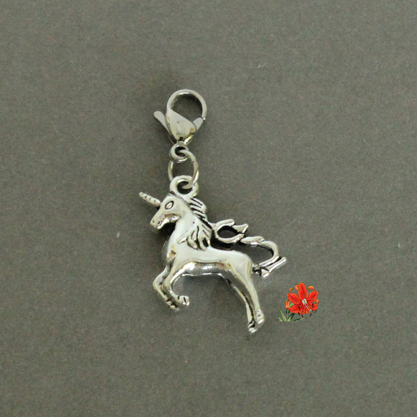 Unicorn (Rearing/ Leaping) Charm with Lobster Clasp and 1 Bangle