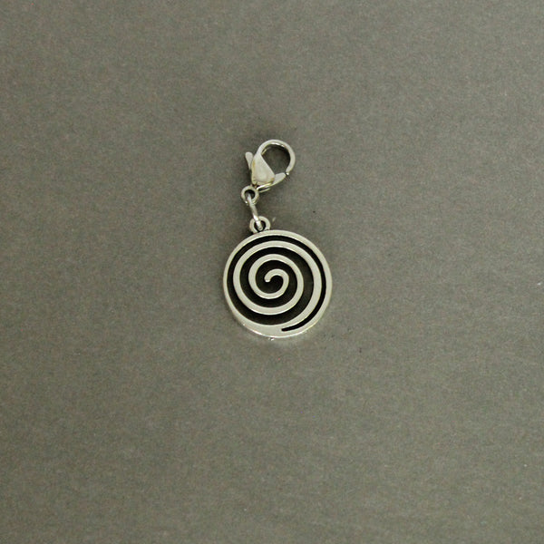 Open Spiral Charm with Lobster Clasp and 1 Bangle