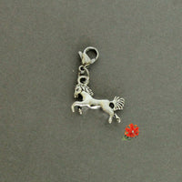 Galloping Horse Charm with Lobster Clasp and 1 Bangle
