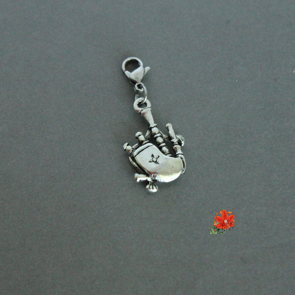 Scottish Bagpipes Charm with Lobster Clasp