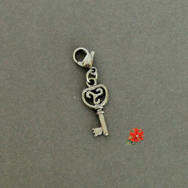 Triskelion/ Triskele Key with Lobster Clasp