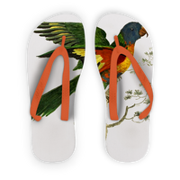 Blue-Bellied Parrot Adult Flip Flops
