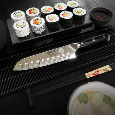 "7"" Professional Grade Japanese Santoku Chef Knife"