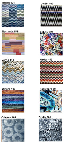 MissoniHome Fabric Colors